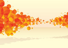 Bubble tastic citrus explode. Orange bubble explode with subtle background and shadow Royalty Free Illustration