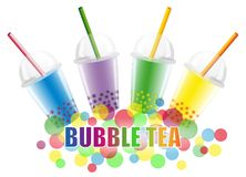 Bubble Tea. In different flavours Royalty Free Stock Images