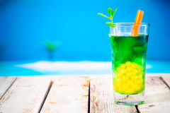 Bubble tea at the beach Stock Photos