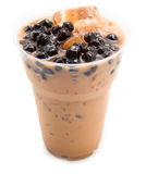 Bubble tea brown Stock Images