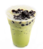 Bubble tea green Stock Photos