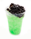Bubble tea green royalty free stock photos