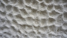 Bubble texture on white cement wall finishing horizontal Stock Images