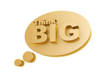 Bubble and think big symbol. On white background Royalty Free Stock Photos