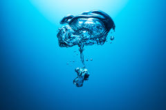 Bubble underwater Stock Images