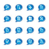 Bubble viewer icons Stock Photography