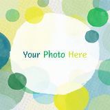 Bubble water color. Buble water color on paper texture Royalty Free Stock Image