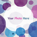 Bubble water color. Buble water color on paper texture Royalty Free Stock Photos