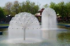 Bubble water fountain Stock Photo