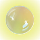 Bubble white on yellow background Royalty Free Stock Photos