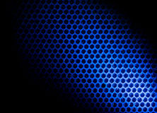 Bubble wrap lit by blue light Royalty Free Stock Photo
