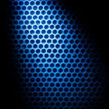 Bubble wrap lit by blue light Royalty Free Stock Photos