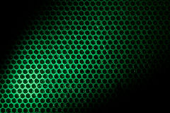 Bubble wrap lit by green light Stock Image