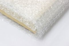Bubble wrap, for protection product cracked Stock Photo