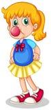 Bubblegum еды маленькой девочки Стоковое Фото