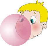 Bubblegum. Blowing bubblegum balloon Royalty Free Illustration