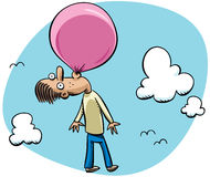 Bubblegum Balloon Stock Photography