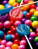 Bubblegum e contexto dos doces Fotos de Stock