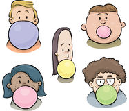 Bubblegum Faces Stock Photos