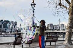 Bubbleman在伦敦 库存图片