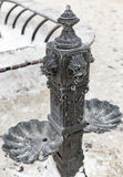 Bubbler on a snowy winter day Royalty Free Stock Images
