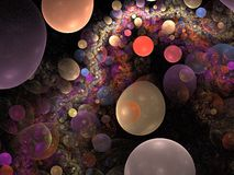 bubblered的抽象背景 库存图片