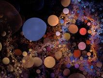 bubblered的抽象背景 图库摄影