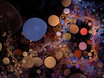 bubblered abstrakcjonistyczny tło Fotografia Stock