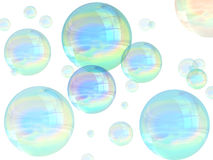 Bubbles. Illustration of many multicolored bubbles floating in the air Stock Image