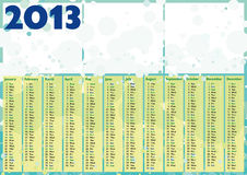 Bubbles 2013 happy calendar Stock Photo