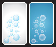 Bubbles. In white and blue background Stock Photos