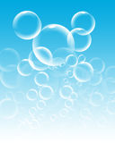 Bubbles. Water bubbles on blue background stock illustration