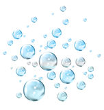 Bubbles. An illustration of liquid bubbles Stock Photography