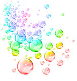 Bubbles. An illustration of liquid bubbles Royalty Free Stock Image