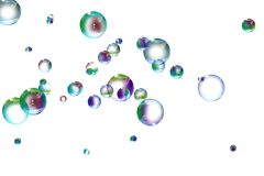 Bubbles. Colors soap bubbles isolated on a background royalty free illustration