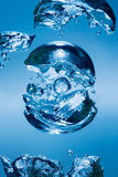 Bubbles. Rising in Water royalty free stock image