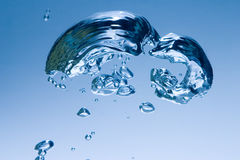 Bubbles. Rising in Water Royalty Free Stock Photos
