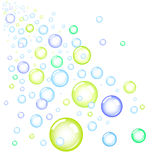 Bubbles. White background, vector illustration Stock Image