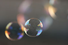 Bubbles. Soap bubble with bubbles faded in the background Stock Photos