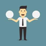 bubbles affärsmananförande Arkivbild
