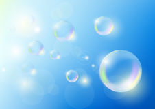 Bubbles against the blue sky Stock Photography