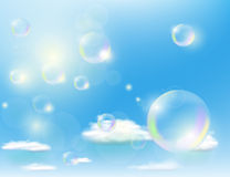 Bubbles against the blue sky Royalty Free Stock Image