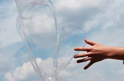 Bubbles against the sky Royalty Free Stock Photography