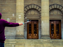 Bubbles In The Air Royalty Free Stock Photography