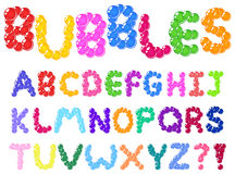 Bubbles alphabet Royalty Free Stock Photos