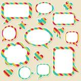 bubbles anförande Arkivbild