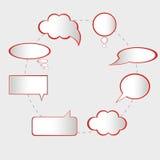 bubbles anförandevektorn Arkivfoton