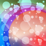 Bubbles And Arcs Background Means Dots And Curves Royalty Free Stock Photography