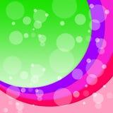 Bubbles Arcs Background Shows Circular Floating Circles Stock Photos