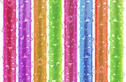 bubbles att dricka sugrör Arkivfoton